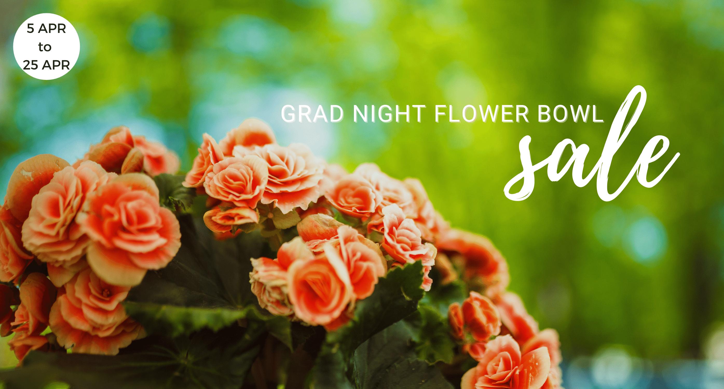 Oak Harbor Grad Night Flower Bowl Sale