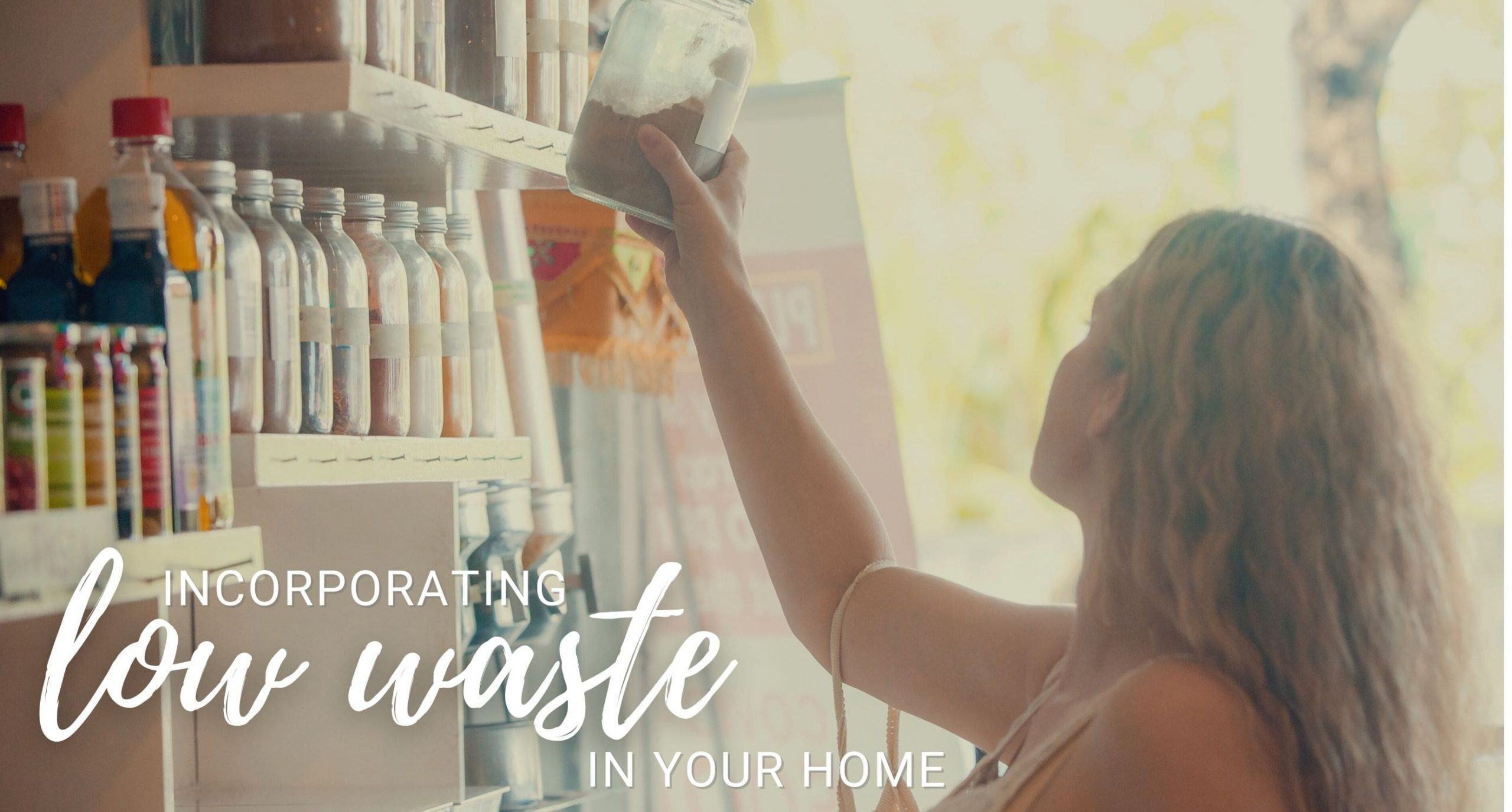 Shopping Woman to Low Waste at Home