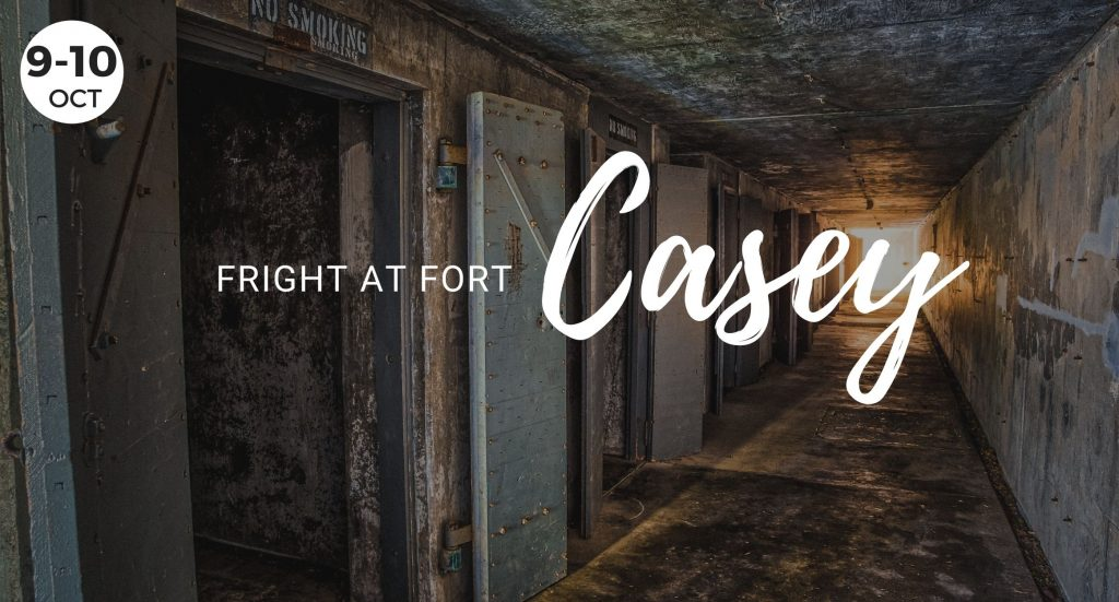 A fright at Fort Casey, State Park, Coupeville, Whidbey Island, Washington