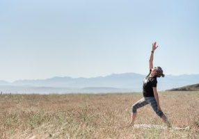 What is your go-to for managing stress since the pandemic? Yoga, Ebeys Landing, Whidbey Island, Washington, stress relief